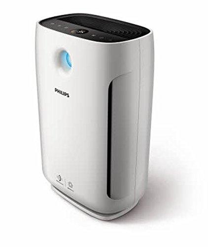 Philips AC2887/10 Luftreiniger entfernt bis zu 99,9% der Viren und Aerosole* aus der Luft (für Allergiker, bis zu 79m², CADR 333m³/h, AeraSense Sensor) weiß